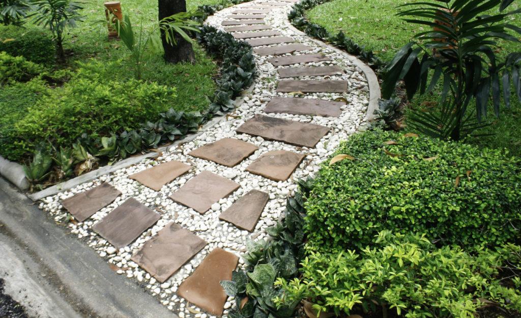 materiaux naturels amenagement jardin